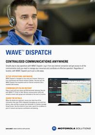 Motorola WAVE PTX Dispatch brochure